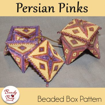 Persian Pinks Beaded Box
